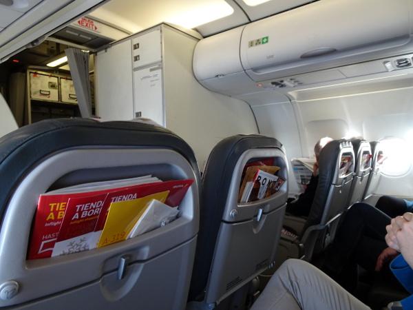 Volando Iberia Business Class Europea. Asiento Business.