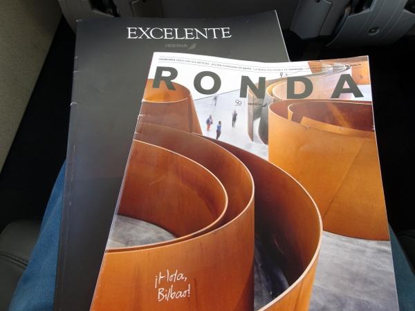 "Volando Iberia Business Class Europea. ""Entretenimiento"" a bordo."
