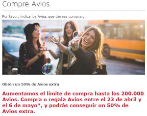 Iberia Plus: compra (o regala) Avios y recibe un 50% adicional de puntos (¡hasta 300.000 Avios!)