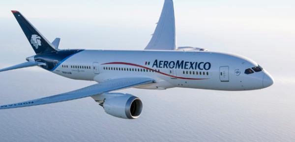 El Boeing 787-8 de Aeromexico.