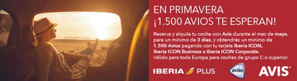 1.500 Avios con Avis e Iberia ICON.