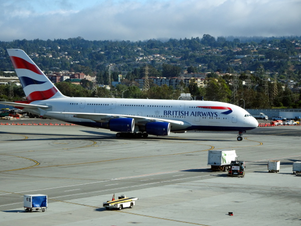 Un Airbus A380 de British Airways.