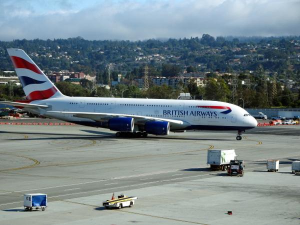 Un Airbus A380 de British Airways.