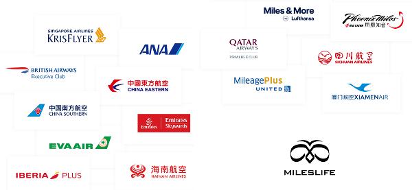 Programas de viajero frecuente asociados a MilesLife.