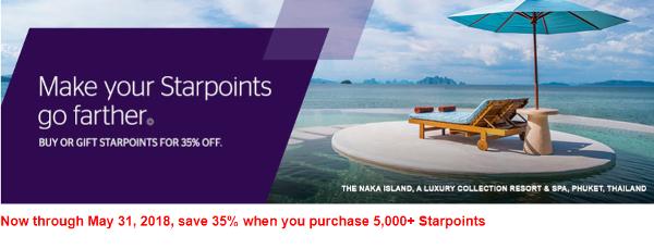 Compra o regala Starpoints de Starwood Preferred Guest con un 35% descuento: será la última oportunidad