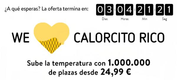 Oferta Vueling: 1.000.000 de vuelos por 24.99 eur