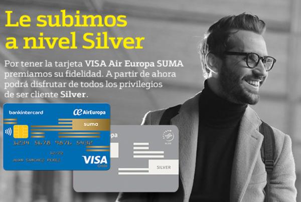 Air Europa VISA te regala el nivel Suma Silver