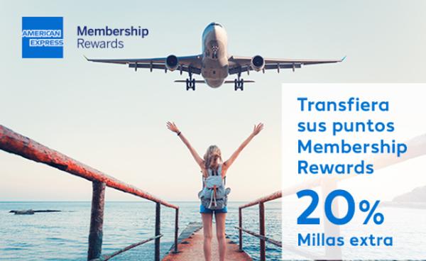 Recibe un 20% extra al transferir puntos MR Amex a Suma Air Europa.