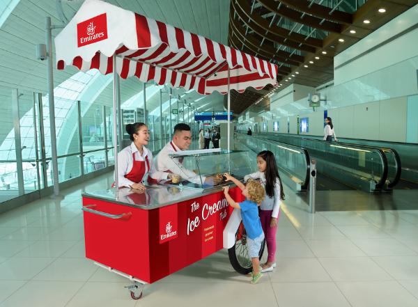 Emirates ofrece helado gratuito en Dubái