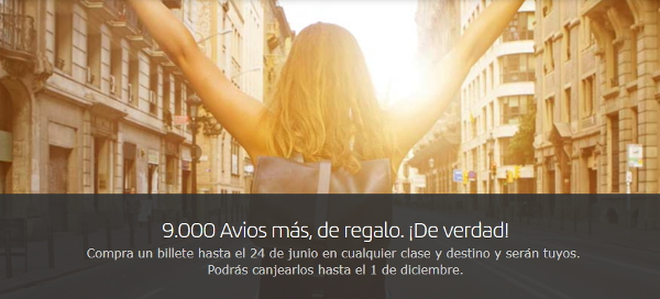 Promoción 9.000 Avios Iberia Plus.