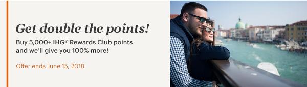 Compra puntos IHG con un bonus del 100%.