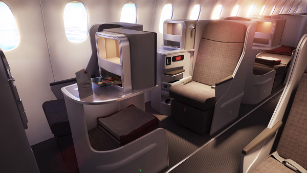 Cabina Business Airbus A350 de Iberia.