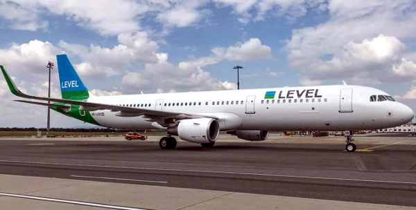 Un avión de LEVEL Europe.