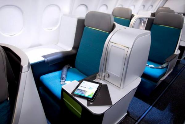 Butaca Business largo radio Aer Lingus.