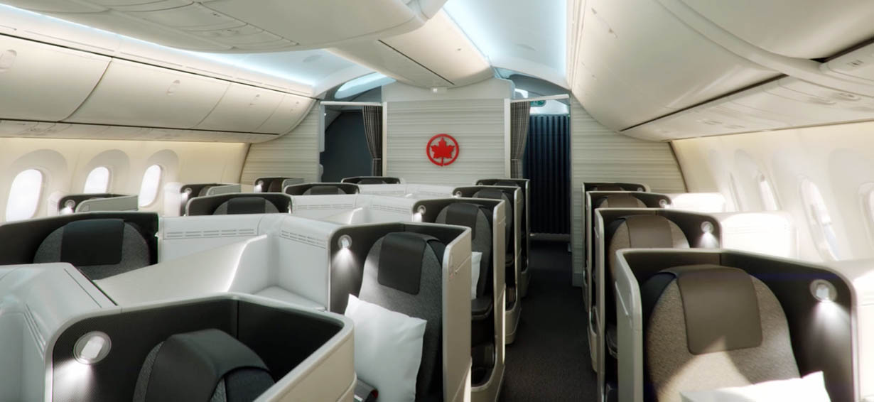 Clase Business Signature Air Canada Dreamliner 787.