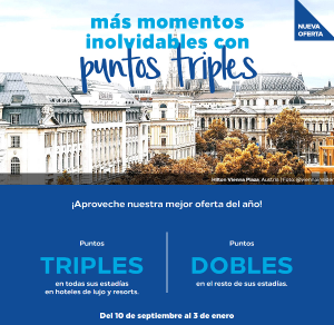 Promo Hilton Honors otoño-invierno: DOBLE o TRIPLE puntos Honors en tus estancias