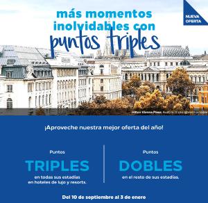 Promo Hilton Honors otoño-invierno: DOBLE o TRIPLE puntos Honors en tus estancias