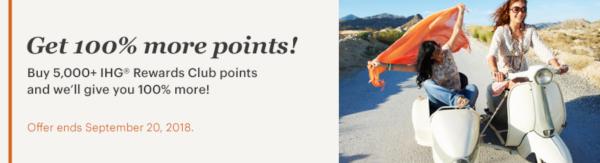 Compra puntos IHG con un 100% adicional de puntos.