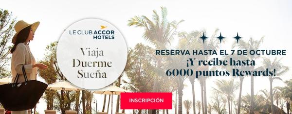 6.000 puntos Accor (120 EUR o 6.000 Avios) con 3 estancias en Accor Hotels.