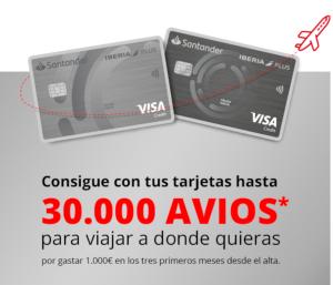 30.000 Avios con la tarjeta Santander Iberia ICON