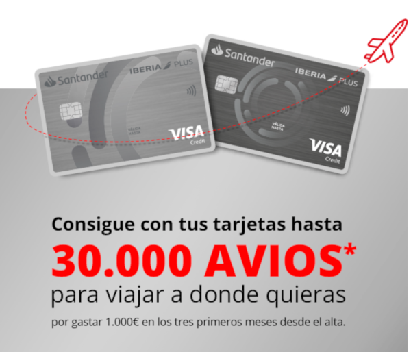 30.000 Avios con Santander Iberia ICON.