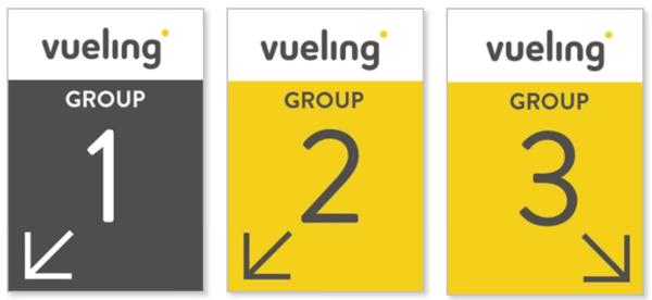 Vueling: nuevos grupos de embarque.
