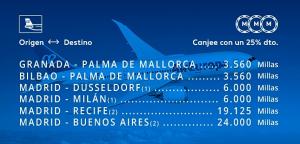 Promoción Air Europa Suma octubre 2018: Buenos Aires 24.000 millas, Recife 19.125