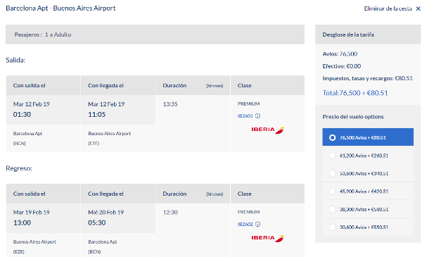 Reserva con Avios en LEVEL a través de Avios.com.