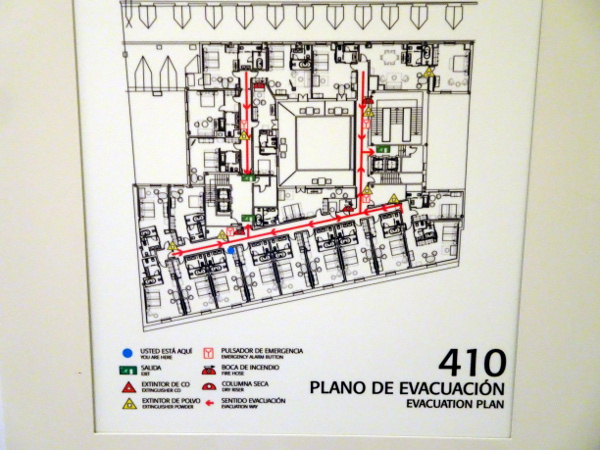 GM Palacio de los duques. Mapa y plan de evacuación en caso de incendio. Lectura imprescindible.