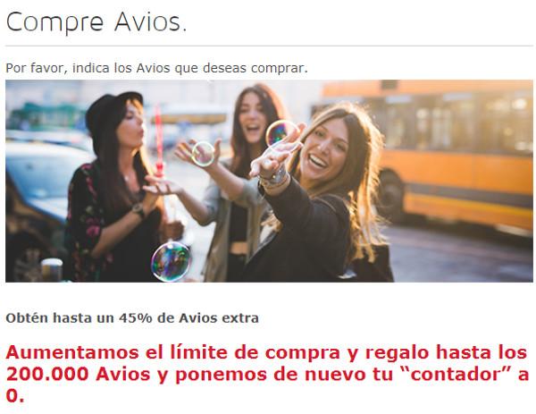 Compra Avios de Iberia Plus con hasta un 45% extra.
