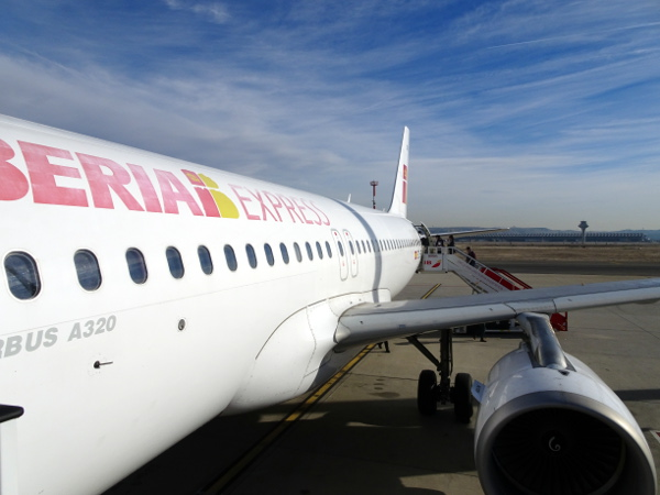 Nuestro Aiburs A320 de Iberia Express operando la ruta MAD-SPC.