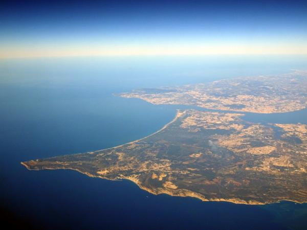 Despidiendo la Península sobre Lisboa.