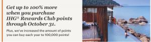 Compra puntos IHG Rewards Club con un 100% extra: el mejor precio
