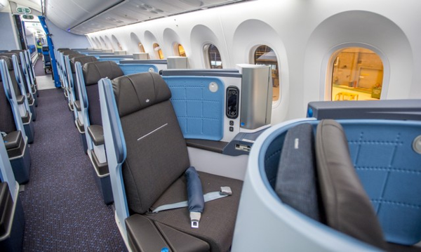 KLM clase Business 787.