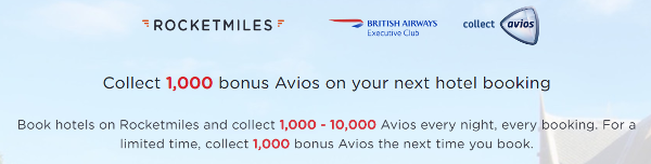 2.000 Avios con tu primera reserva Rocketmiles