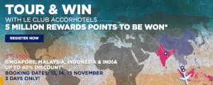 Premios Promo Flying Blue Edición Especial, 40% descuento Accor en Malasia, Indonesia y Singapur