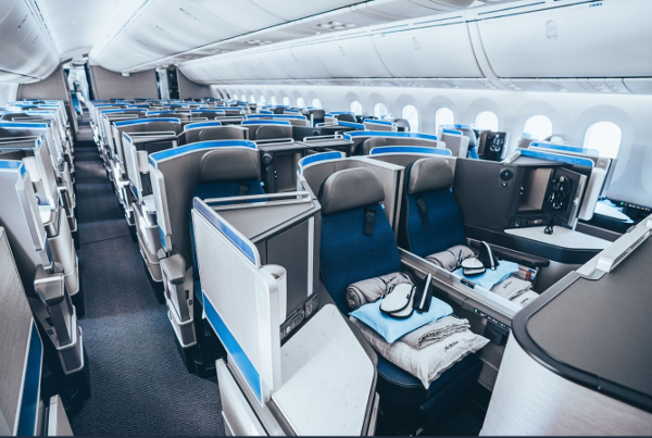 United Polaris. La clase business del Boeing Dreamliner 787-10 de United.