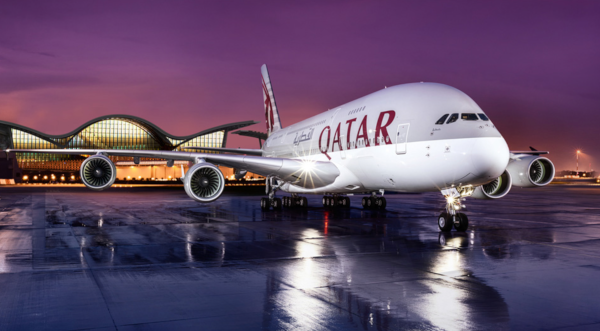 Airbus A380 de Qatar Airways.