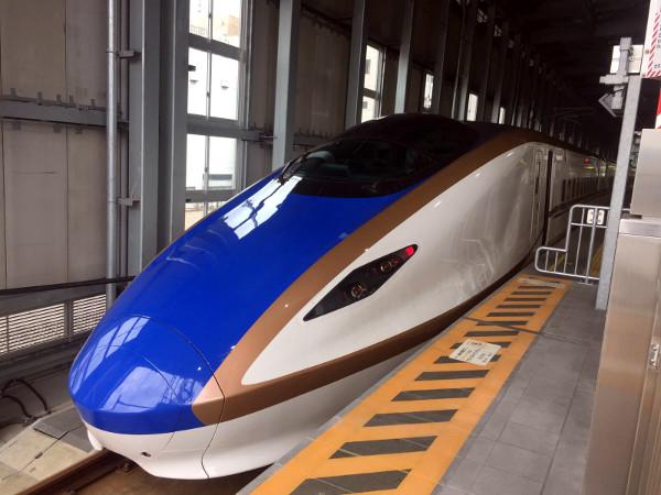 El tren bala, Hokuriku-shinkansen, japonés.