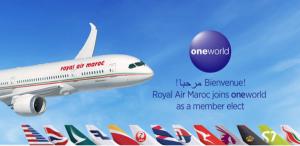 Royal Air Maroc, nueva aerolínea oneworld