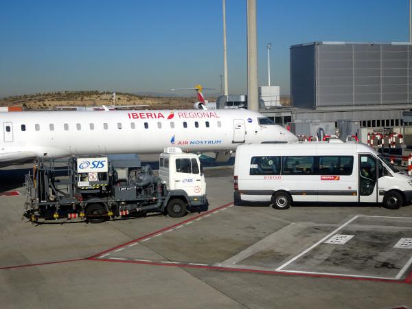 Un CRJ de Iberia Regional Air Nostrum.