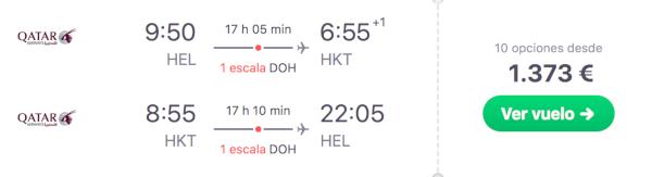 Helsinki a Phuket, 1.373 Eur ida y vuelta en Business.