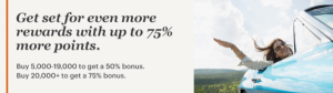 Compra puntos IHG Rewards Club con hasta un 75% adicional