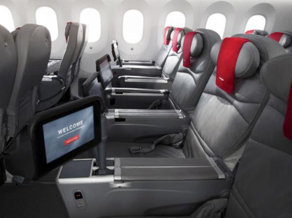 Butaca Premium Norwegian en Boeing 787.