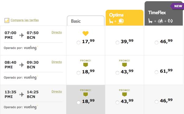 Vuelos baratos con Vueling, desde 17.99 euros.