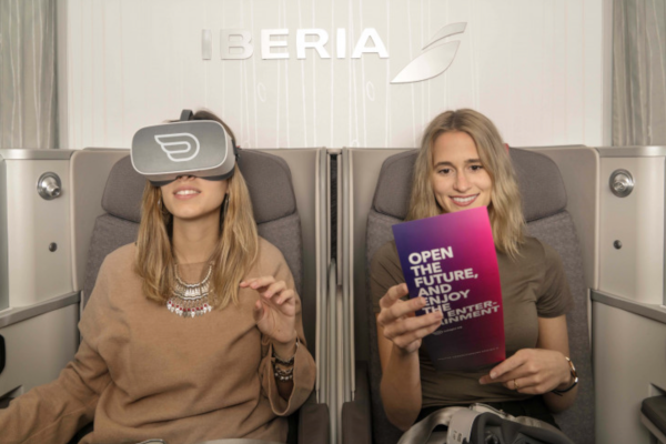 Realidad Virtual a bordo de Iberia.