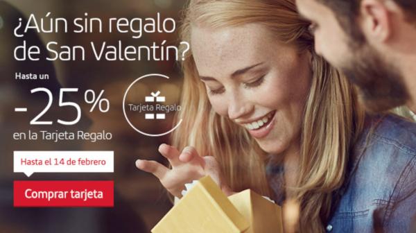 Tarjeta Regalo Iberia San Valentín 2019.