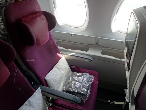 Asiento Turista Qatar Airways A380.