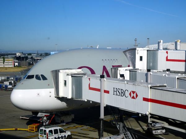 El A380 de Qatar Airways.