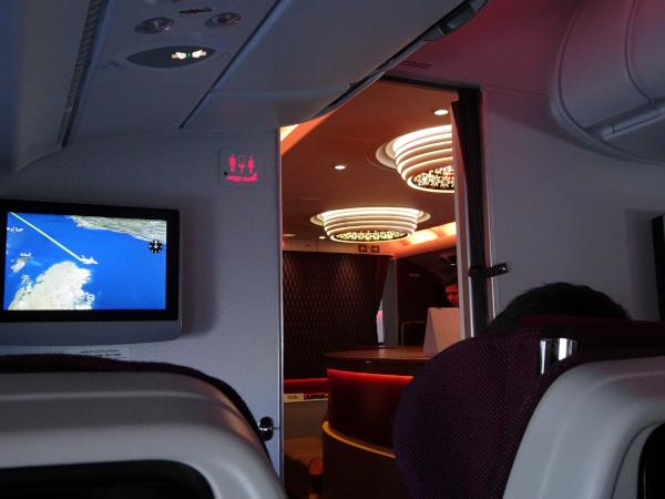 Bar a bordo para pasajeros Business y First.